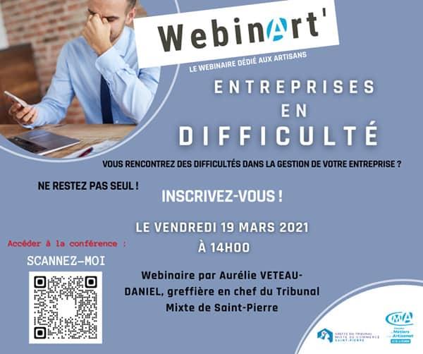 3ème édition Webin'Art : Les entreprises en difficultés